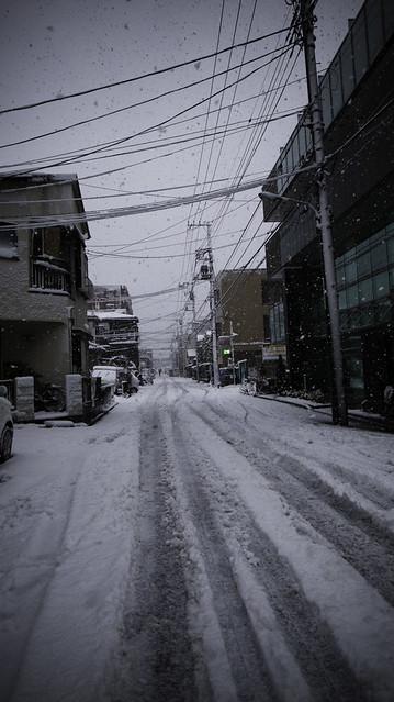 Minami Kasai Tokyo, My Street in Snow