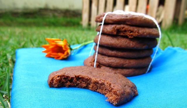 Biscoito de chocolate feito em casa