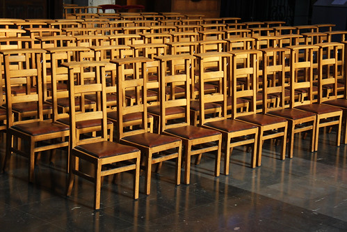 Pious Brussels Cathedral Chairs