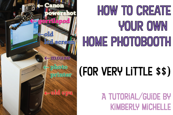 How to build your own diy home made photobooth for cheap for How to build a cheap house on your own