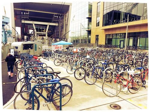 Bike Parking at the Tram Station
