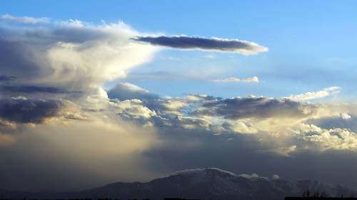 sunset clouds colorado pikespeak
