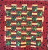 Jungle Dawn, 52 x 56 inch quilt, 2012