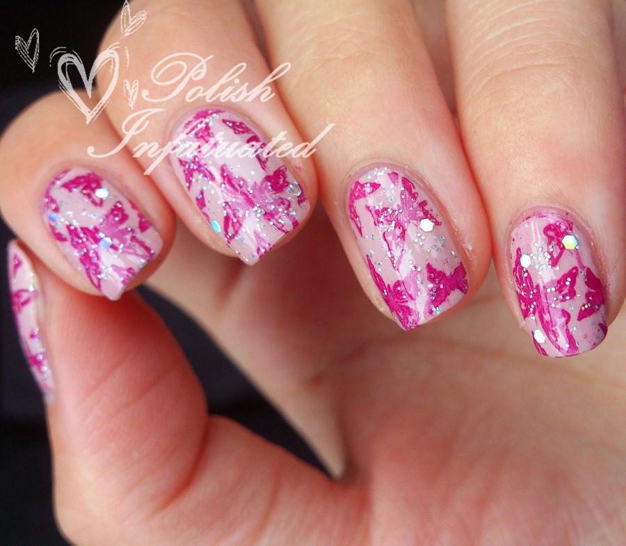 pink glittery butterflies2