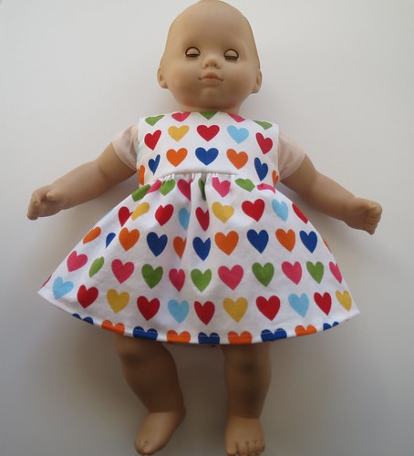 Multi-Colored Heart Dress for Bitty Baby
