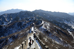 [Free Images] Architecture, Archaeological Sites, Great Wall of China, World Heritage, Landscape - China, Snow ID:201301292000