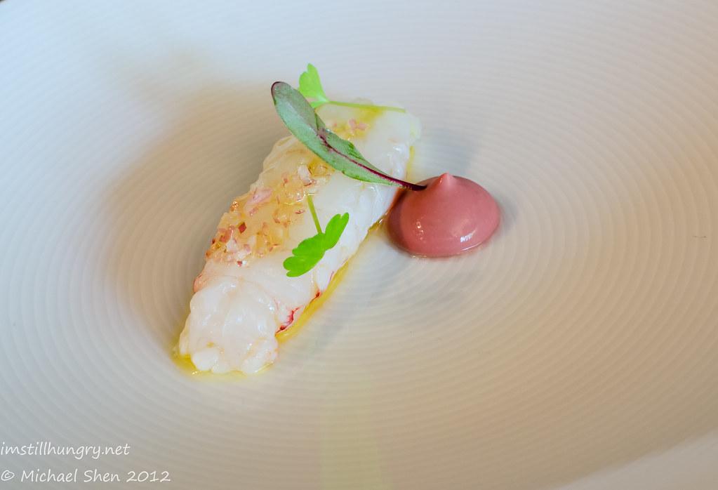 Tetsuya's - New Zealand scampi w/chicken liver parfait & walnut vinaigrette