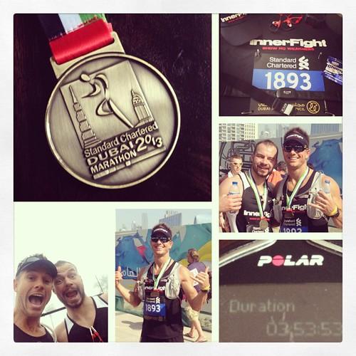 2013 #dubai #marathon mission complete. Great day & lots of fun. #awesome #run #running #endurance #smashlife