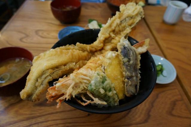大えびアナゴ天丼‗DSC00510