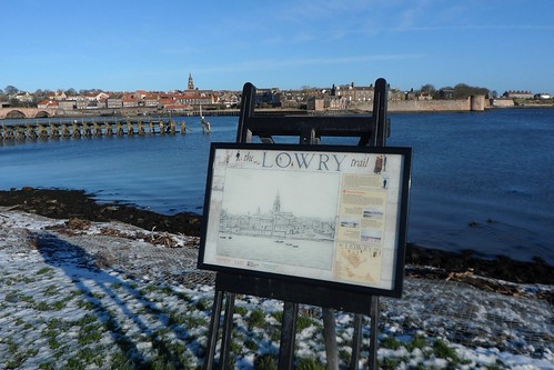 Berwick Harbour on the Lowry Trail in Berwick upon Tweed