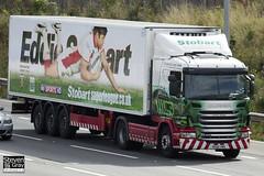 Scania G400 4x2 Tractor - PE60 VMX - Lynette Angela - Green & Red - Eddie Stobart - M1 J10 Luton - Steven Gray - IMG_9021