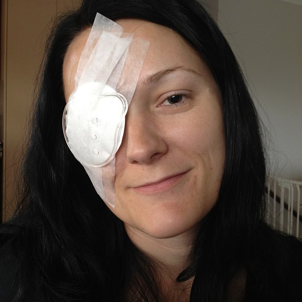 Christina post retina surgery 2013