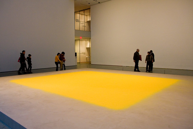 Wolfgang Laib, Pollen from Hazelnut, MoMA