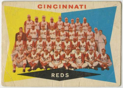 1960 Topps Cincinnati Red Team Card