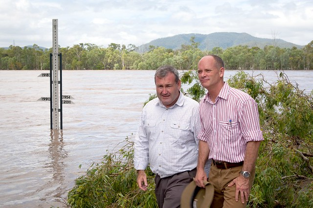 Newman and Dempsey visit flood zone