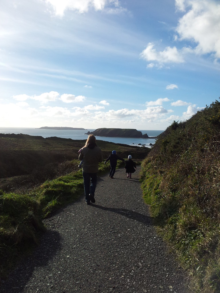 , Walking in the clouds at Marloes Sands #Countrykids