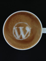 Today's latte, WordPress.