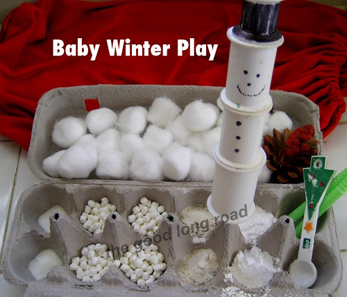 Baby Winter Sensory Play (Photo from The Good Long Road)