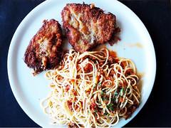 espagueti escalope