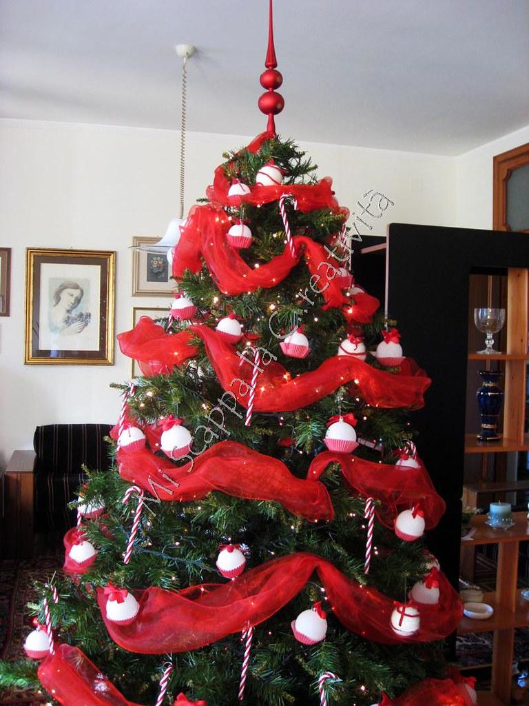 Albero Natale Decorato Rosso mi scappa la creatività: mi è scappato l'albero di natale