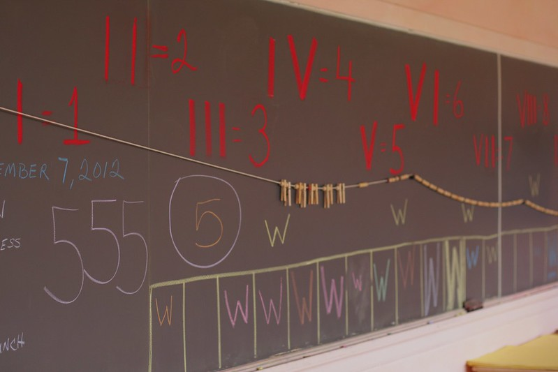 First grade Waldorf classroom