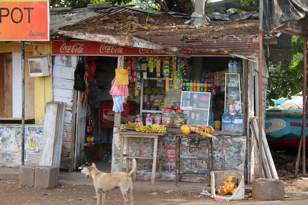 Countryside Convenience Store in Sri Lanka