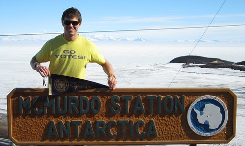 C of I alumnus Travis Guy ('06) in Antarctica