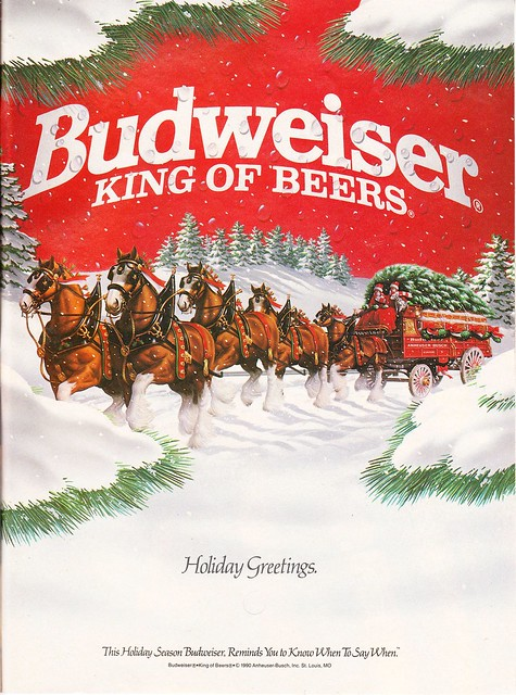 Budweiser Holiday Greetings ad (1991) | Flickr - Photo ...