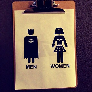 The #superhero bathroom at  @CommonDesk #fordtx #digitaldallas