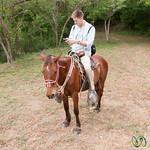 Dan on his iPhone and Horse - Morgan's Rock, Nicaragua