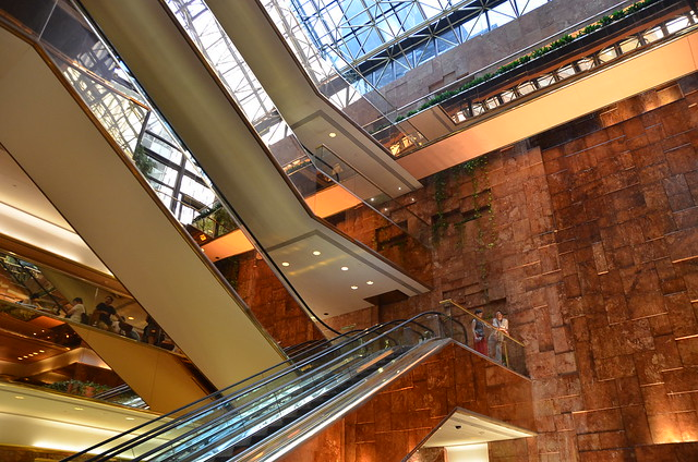 Escalators in Trump Tower 6 floors of Public Space