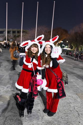 Acid Black Cherry Christmas Bunnies