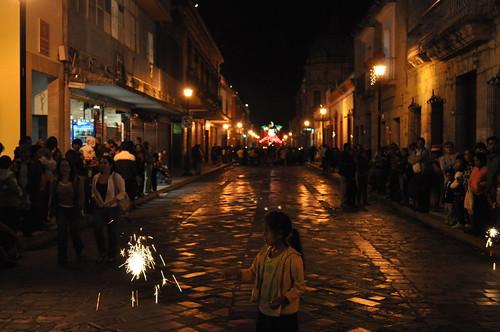 Avenida Independencia en Navidad Oaxaca 2011