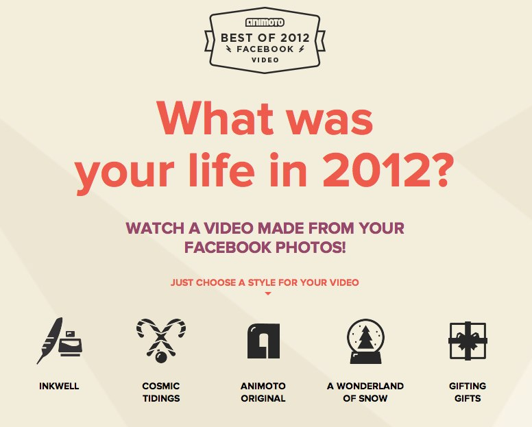 Animoto - Best Of 2012 Facebook Video