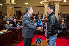 Τιμήθηκαν οι Ολυμπιονίκες Γιάννης Τσίλης και Γιώργος Τζιάλλας