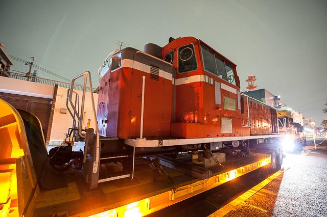 鉄道総合技術研究所 DD16 7 若桜鉄道へ陸送される