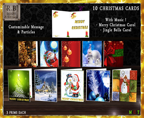 55l$ PROMO ! - *RnB* 10 Christmas Cards - Music, Particles & Message