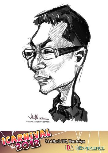 digital live caricature for iCarnival 2012  (IDA) - Day 1 - 45