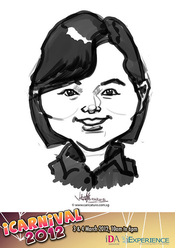 digital live caricature for iCarnival 2012  (IDA) - Day 1 - 97