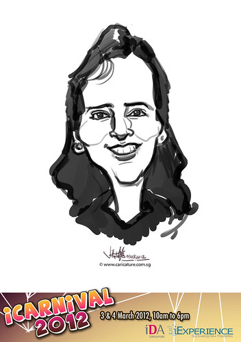 digital live caricature for iCarnival 2012  (IDA) - Day 1 - 84