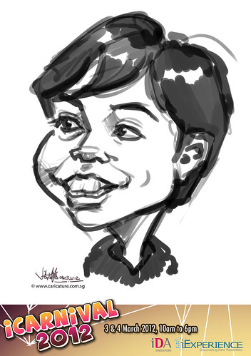 digital live caricature for iCarnival 2012  (IDA) - Day 2 - 12