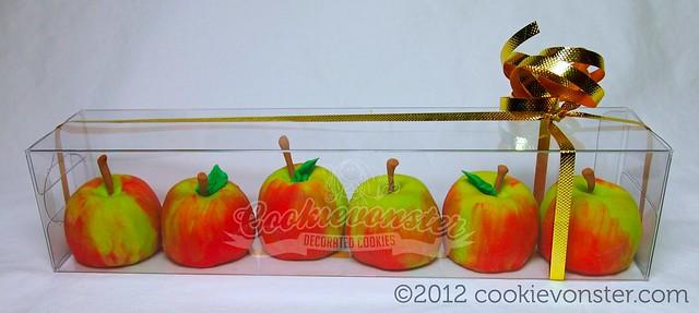 Teacher's Gift Set - mini 3D Shortbread cookie apples