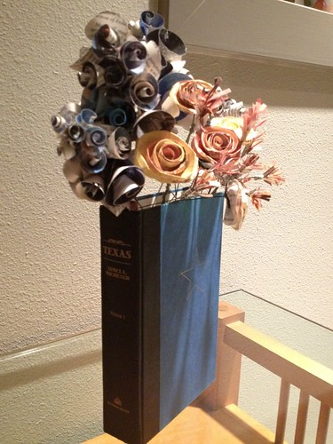 Folded Book Flower Arrangement