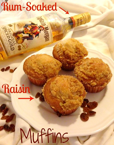 Christmas Morning Muffins: Rum-Soaked Raisin Muffins with Crumb Topping