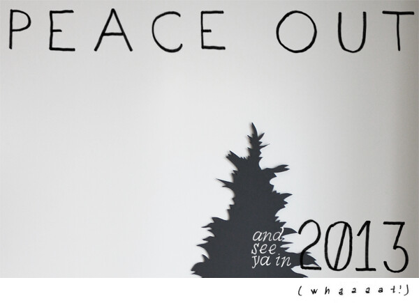 Peace out and see you in 2012 (whaaaaat!)