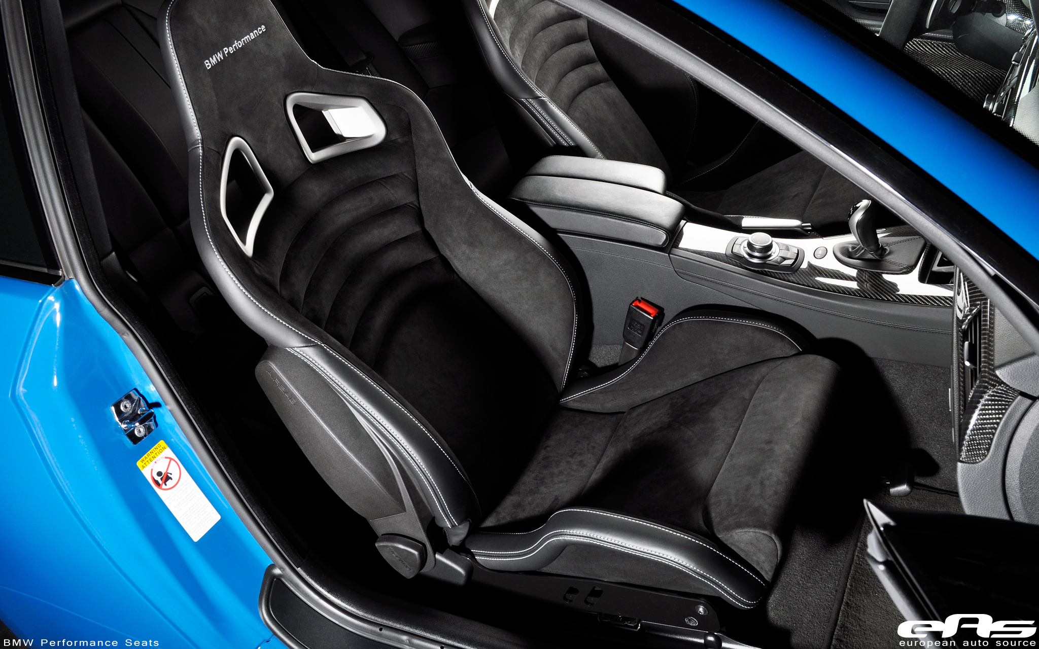 BMW Performance Seats Laguna Seca Blue E92 M3 by eas