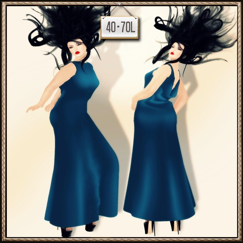 A&A Fashion TDR Fusion 2 Long Dress Teal