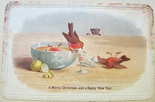 Christmas booze bird