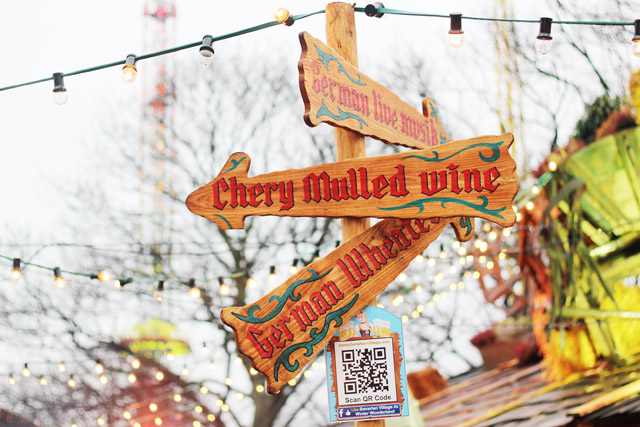 signs Winter Wonderland Hyde Park London