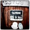 Telephone side of pole